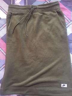 Nike軍綠色棉質長裙 100%全新