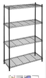 🚚 Whitmor Supreme 4 Tier Shelving Unit Kitchen Garage Storage Room Shelf Black