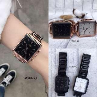 🚚 Gedi 特價實拍 百搭小秒方形手錶 保固一年 女錶 玫瑰金