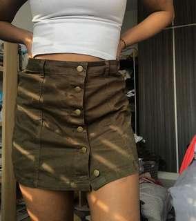Green Skirt Forever 21