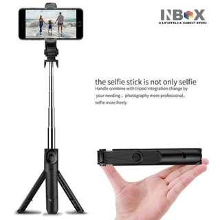 🚚 Tripod Selfie Stick Horizontal Vertical 360 Degree Bluetooth