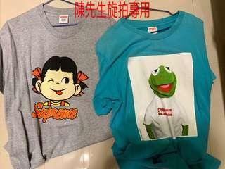 二手絕版 Supreme 奶妹 不二家 青蛙 短Tee sz L號