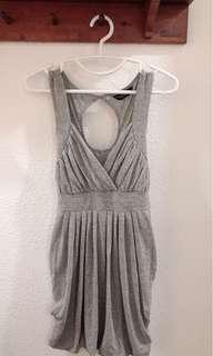 🚚 LN Dorothy Perkins Silver Draped Dress