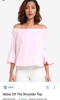 Cotton on Zara Abbie off shoulder flared top