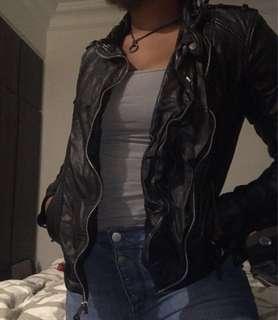 Abercrombie Faux Leather Jacket