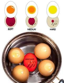 Colour-changing egg timer