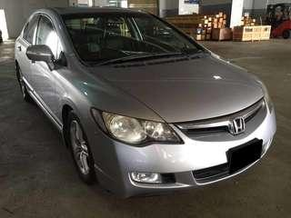 22.03.19 TO 25.03.19 FRI-MON HONDA CIVIC 2.0A $225 (P PLATE WELCOME)