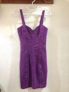 🚚 LN Miss Selfridge Herve Leger esque Cocktail Dress in Jewel Purple