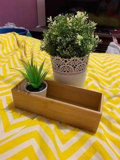 2 fake plants