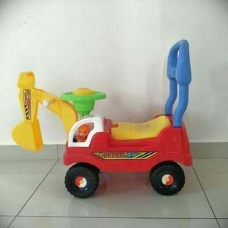 Walker ride-on toy car