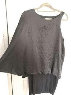 🚚 PRE-LOVED: BYSI Dress with Stud details (BLACK)
