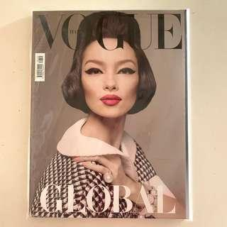 Collector's Copy of Vogue Italia Jan 2013 Issue (Fold-out cover of Sun Fei Fei shot by Steven Meisel) mint condition