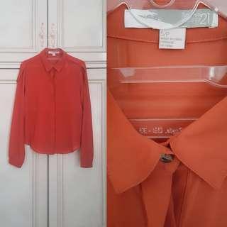Forever 21 Long Sleeve Shirt // Atasan Wanita