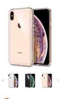 🚚 Spigen crystal hybrid iPhone XS Max clear case