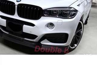 Double b BMW F16 X6 M-tech 3D 碳纖維 卡夢 前下巴 台灣製造 密合度超優