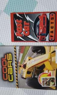 Cool cars and Fast cars Scholastic books