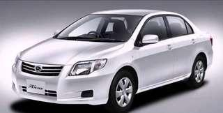 Toyota Axio for Rent. GrabCar/Go-Jek welcome