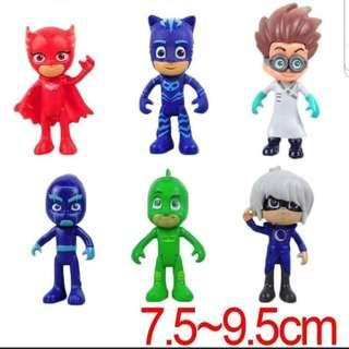 🚚 BN PJ Mask 6pcs cake toppers/ Figurine/toy/Display/miniature