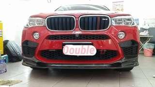 Double b BMW F16 F15 F85 F86 X5M X6M 抽真空 3D 碳纖維 前下巴 密合度百分百