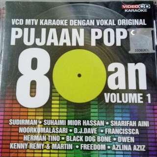 Pujaan Pop 80an Vol.1 VCD Karaoke Sudirman Suhaimi Mior Hassan Sharifah Aini