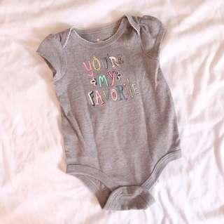 Gray Baby Onesie