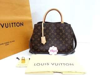 Authentic Louis Vuitton Monogram Canvas Montaigne MM {{ Fixed Price }} **定价** {{ Only For Sale}}
