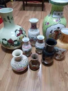 China n Japanese vase 9 pcs