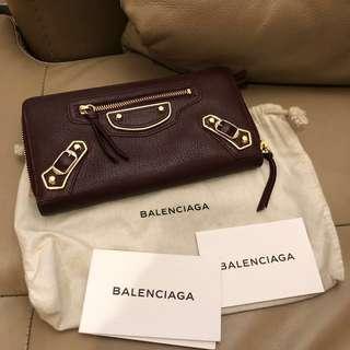 Balenciaga metalic edge GHW wallet