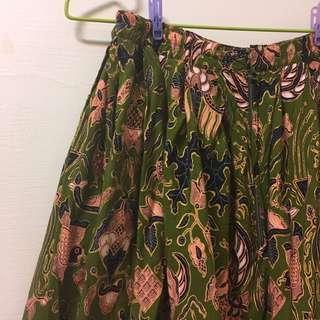 古著♨️超美ㄉ墨綠古著裙子!