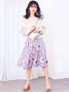 ✨UP!搶!仙氣~日本19 mercuryduo 皇牌歐根紗水墨花花半身裙