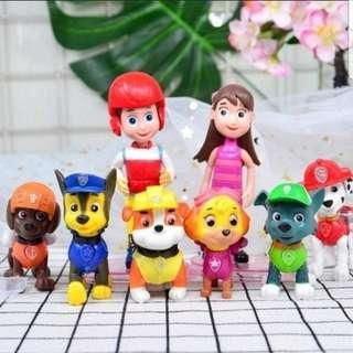 🚚 Paw patrol cake toppers/ Figurine/toy/Display/miniature