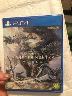 PS4 monster hunter wold