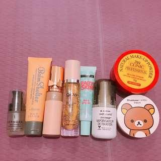 Makeup Bundle for Fair skin (Sephora, The Balm, Physicians Formula, Etude House, Maybelline, Wet n Wild, 3WClinic, Apieu)