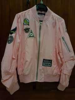 Nyla Patch Bomber Jacket