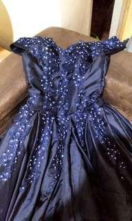 FOR RENT BALL GOWN WITH PETTICOAT