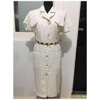 Off-white Vintage button down dress