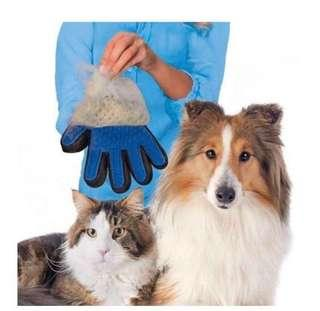 🚚 Deshedding Glove for Dogs/Cats Blue (One size)