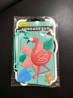 BNIP Flamingo Luggage Tag