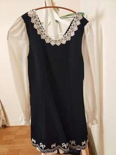 🚚 深藍洋裝