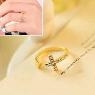 Heart diamond cross rings fashion jewelry