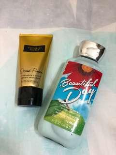 Bath & Body Works Body Lotion and Victoria's Secret Fragrance Lotion