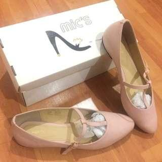 [NEW] MIC'S MARY JANE PINK FLAT SHOES