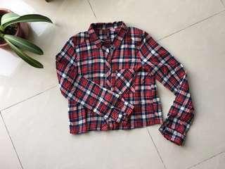 H&M Checkered Flannel