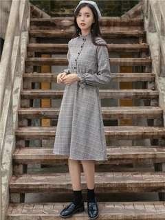 Checkered Grey Dress