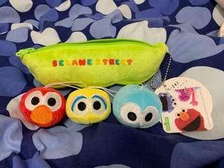 芝麻街 Sesame Street Elmo Big Bird Cookies 公仔 掛飾