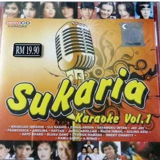 Sukaria Karaoke Vol.1 VCD Khadijah Ibrahim Uji Rashid