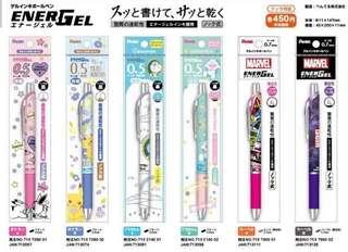 🚚 Pentel Japan Doraemon / Pokemon / Marvel Energel Pen