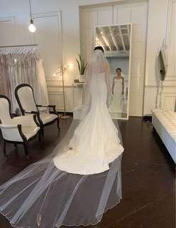 Wedding chapel Veil & face Veil