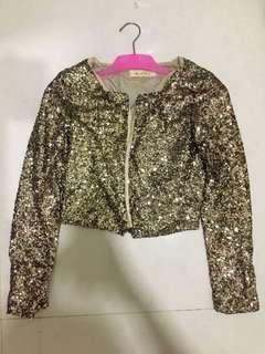 Gold sequin outer