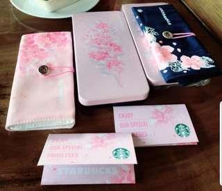 Starbucks Limited Sakura Tin and Foldable Bag